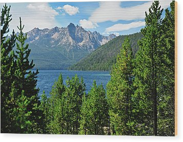 Sawtooth Serenity II Wood Print by Greg Norrell