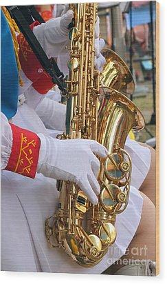 Saxophone Players Wood Print by Yali Shi