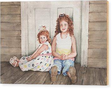 Sayler And Tayzlee Wood Print by Sam Sidders
