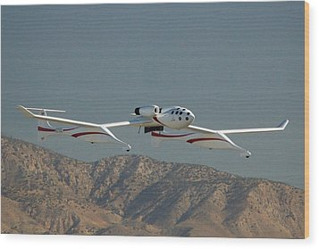 Scaled Composites White Knight Wood Print by Brian Lockett