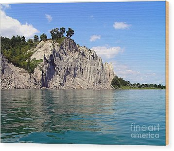 Wood Print featuring the photograph Scarborough Bluffs-lake View by Susan  Dimitrakopoulos