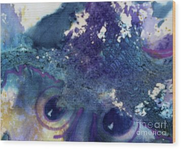 Wood Print featuring the painting Scarecrow Eyes by Kathy Braud