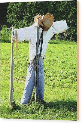Scarecrow Wood Print by Susan Savad