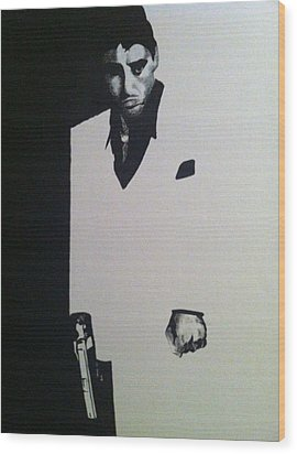 Scarface  Wood Print by Davor Sintic