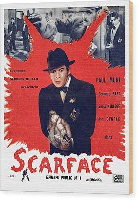 Scarface, Paul Muni, 1932 Wood Print by Everett