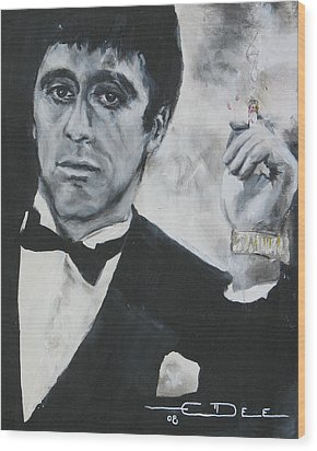 Scarface2 Wood Print by Eric Dee
