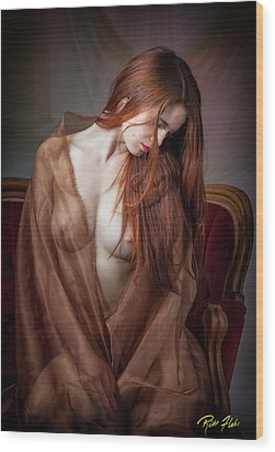Wood Print featuring the photograph Scarlet Repose by Rikk Flohr