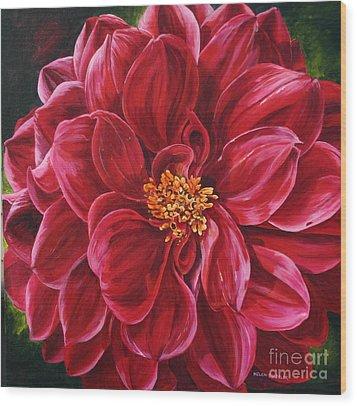 Scarlet Stunner Wood Print by Helen Shideler