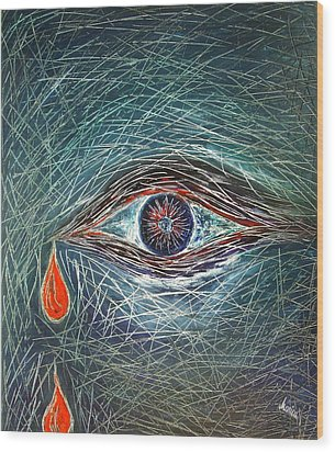 Scars In My Soul Wood Print by Marianna Mills