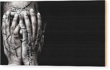 Scars Wood Print by Venura Herath