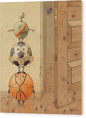 Scary Story Wood Print by Kestutis Kasparavicius