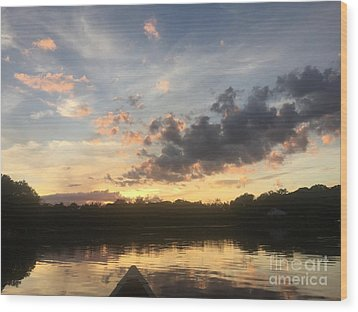 Scattered Sunset Clouds Wood Print by Jason Nicholas