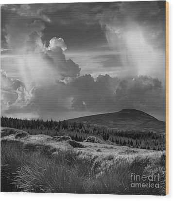 Scattering Clouds Over The Cronk Wood Print