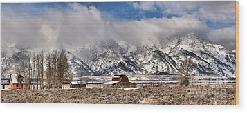 Wood Print featuring the photograph Scenic Mormon Homestead by Adam Jewell