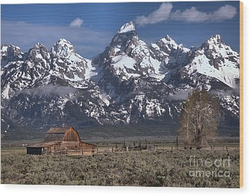 Scenic Mormon Homestead Wood Print by Adam Jewell