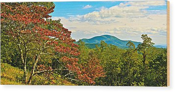 Scenic Overlook Blue Ridge Parkway Wood Print by The American Shutterbug Society