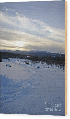 Scenic Vista From Marshfield Station In The White Mountains New Hampshire Usa Wood Print by Erin Paul Donovan