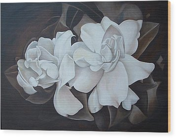 Scent Of Gardenias Wood Print by Daniela Easter
