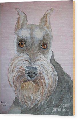 Schnauzer Wood Print