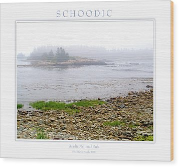 Schoodic Wood Print by Peter Muzyka