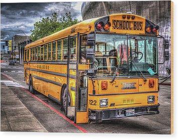 School Bus Wood Print by Spencer McDonald