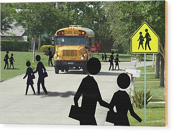 School Is Out Wood Print