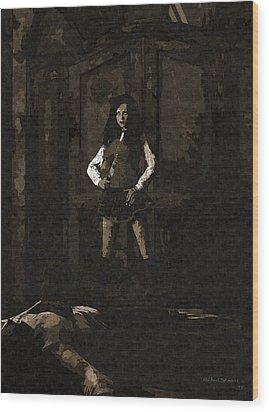 Schoolgirl Revenge Wood Print
