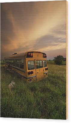 Wood Print featuring the photograph School's Out  by Aaron J Groen