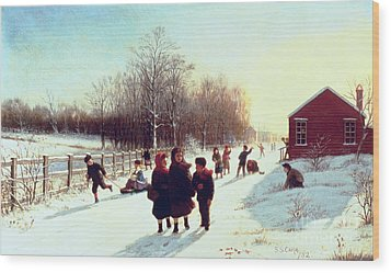 School's Out Wood Print by Samuel S Carr