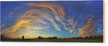 Schoolyard Sunset 1 Wood Print