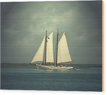 Schooner A. J. Meerwald 4 Wood Print by Joyce StJames