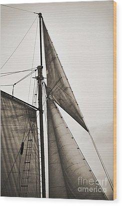 Schooner Pride Tall Ship Yankee Sail Charleston Sc Wood Print by Dustin K Ryan