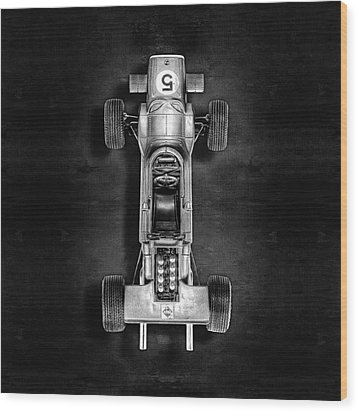 Wood Print featuring the photograph Schuco Matra Ford Top Bw by YoPedro