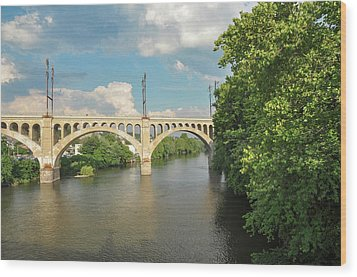 Schuylkill River At The Manayunk Bridge - Philadelphia Wood Print by Bill Cannon