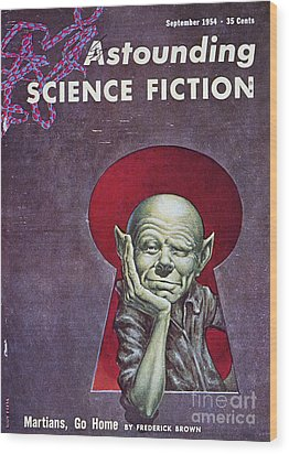 Science Fiction Cover, 1954 Wood Print by Granger