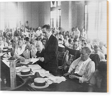 Scopes Trial, July 10�, 1925, Dayton Wood Print by Everett