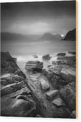 Scotland Elgol Wood Print by Nina Papiorek