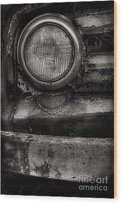 Scotopic Vision 7 - Headlight Wood Print by Pete Hellmann