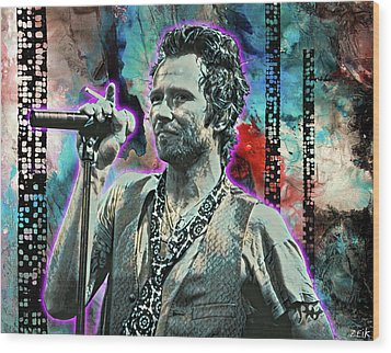 Scott Weiland - Silvergun Superman Wood Print