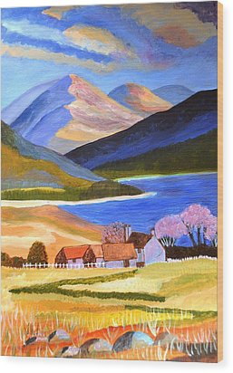 Scottish Highlands 2 Wood Print by Magdalena Frohnsdorff