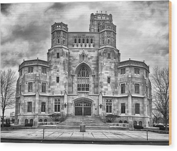Wood Print featuring the photograph Scottish Rite Cathedral by Howard Salmon