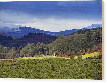 Wood Print featuring the photograph Scottish Scenery by Jeremy Lavender Photography