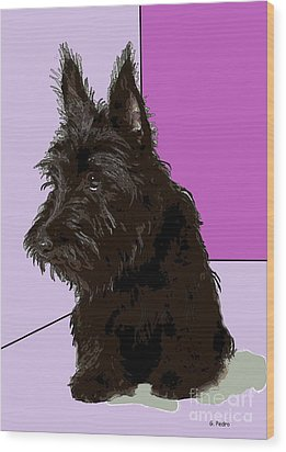 Scottish Terrier Wood Print by George Pedro