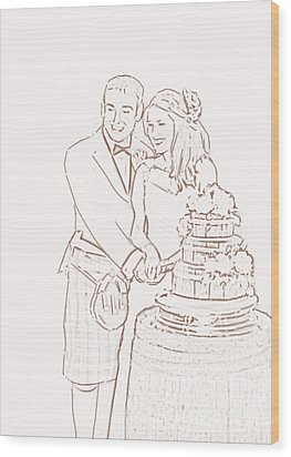 Scottish Wedding Wood Print by Olimpia - Hinamatsuri Barbu