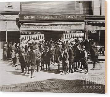 Scranton Pa Metropolitan 5 To 50 Cent Store Early 1900s Wood Print