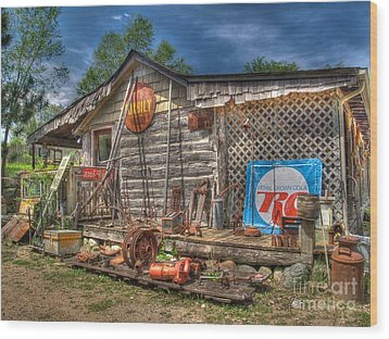 Scrap House Wood Print by Jimmy Ostgard