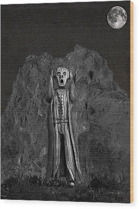 Scream Rock Wood Print by Eric Kempson