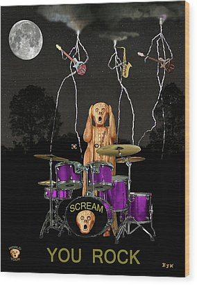 Scream Rock Soul Wood Print by Eric Kempson