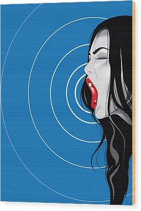 Screamer Wood Print