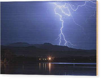 Wood Print featuring the photograph Scribble In The Night by James BO Insogna